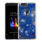 ZTE Sequoia /Blade Z Max Bling Hybrid Liquid Glitter Rubber Protector Case Cover