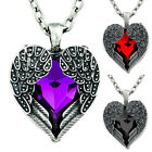 Stone Heart Necklace Angel Wing Gothic Lolita Cosplay Alternative Emo