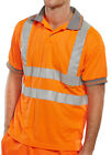 Hi Visibility Polo shirt, Orange class 2 or Yellow class 3, all sizes