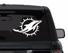 Miami Dolphins decal sticker for car, laptop, yeti CHOOSE COLOR die cut vinyl on eBay
