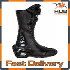 Spada X-Race Waterproof CE Approved Motorcycle Motorbike Race Boots - Black