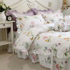 Butterfly Floral Printed 100% Cotton Bed Sheet Set Bedding Collections image
