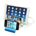 4 Port USB Charging Station Dock Charger Stand for iPhone iPad Smart Cell Phones