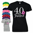40th Birthday Gift T Shirt 40 And Fabulous Made In 1978 Vintage Year Ladies Top