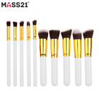 New 10pcs cosmetic makeup brushes set Powder Fundation Eyeshadow Lip Brush Tool