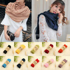 Lady Womens Scarf Long Large Soft Warm Cotton Hijab Sunscreen Shawl Stole Wrap