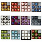 Christmas Tree Decoration 9 Pack 60mm Shatterproof Baubles - Many Colours