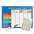 BEDTIME BEHAVIOUR CHART MAGNETIC AVAILABLE WITH FREE PEN & STAR STICKERS