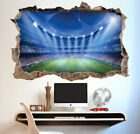 Football Stadium Wall Sticker 3D Look - Boys Kids Bedroom Wall Decal
