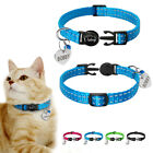 Pet Dog Cat Breakaway Collar Name Tag Anti-lost Reflective Safety Quick Release