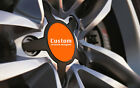 Car Alloy Wheel Centre Cap Badges Orange Fits ALL 36mm-90mm With /Without Logo
