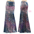 Floral Paisley Boho Purple Sublimation maxi long skirt S/M/L/XL/1XL/2XL/3XL