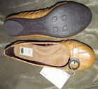 NEW Cute Camel flats with oval buckle strap riveted detail DR SCHOLL'S Synthetic