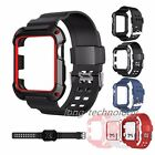 Sport TPU Wrist Strap Band W/ Rugged Protective Case For Apple Watch 38mm 42mm image