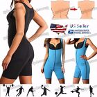 Sweat Sauna Suit Gym Fitness Exercise Fat Burn Weight Loss Bodysuit Sexy Women