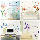 wall art murals decals stickers - Removable Flowers Wall Stickers DIY Art Decals Mural Vinyl Stickers Home Decor