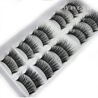 cheap natural 10 pairs 100 real mink hair thick false eyelashes strip lashes