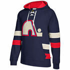 CCM Quebec Nordiques Navy Jersey Pullover Hoodie Vintage Hockey