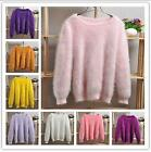 Korean Womens Winter Fashion Cashmere Warm Sweater Fluffy Plush Jumper Outwear
