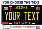 Внешний вид - Arizona License Plate Personalized Custom Auto Bike Motorcycle Moped tag
