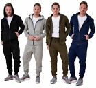 Mens Tracksuits Branded Fleece Hooded Zipper Sports Gym Casual Wear S to XXL