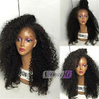 Glueless Kinky Curly Brazilian Remy Human Hair Lace Front Wigs Full Lace Wigs