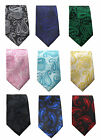 Mens Paisley Slim Tie 2 Inch Black Grey Navy Blue Green Pink Yellow Blue Red Tie