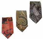 Mens Paisley Slim Tie 2 Inch Black Brown Gold Orange Occassion Party Wedding Tie