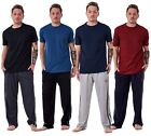 Mens Pyjama Sets 100% Cotton Jersey Plain Light Weight Branded Lounge Nightwear