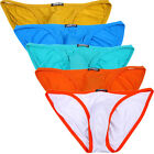 5 packs JINSHI Men Underwear Fashion Briefs U convex pouch bamboo fiber