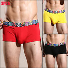 3 pack Men's underwear comfortable Soft U pouch Boxer brief