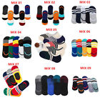 5 Packs Men Cotton Invisible No Show Nonslip Loafer Boat Liner Low Cut Socks US