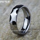 New Gift Men Women Tungsten Carbide fashion Ring Simple wedding band 6mm A5