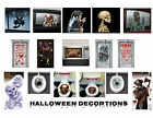 HALLOWEEN DECORATIONS DOOR WALL BANNERS SCARY SPOOKY CLOWN ZOMBIE WITCH