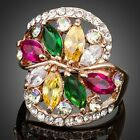 Limited Edition Flower Zirconia Ring for Women Girls Ladies MJ0116