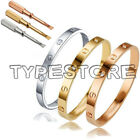 Unisex Men's Women's Steel Fashion Love Screw Bangle Bracelet With screwdriver
