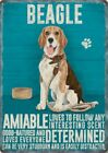 BEAGLE DOG ANIMAL METAL SIGN PLAQUE PRINT PICTURE OTHER BREEDS ARE LISTED 1295