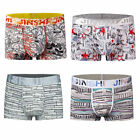 4 pack JINSHI Brand Men's underwear soft bamboo fiber U convex pouch boxer brief