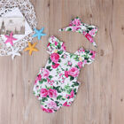 Baby girls Floral romper bow suit. casual party summer photo shoot 458