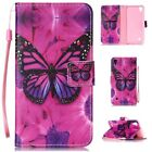 ZD ULTRA SLIM Leather Flip Case Phone Cover For Various Phones BUTTERFLY