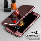 For iPhone 6 6S 7 Plus 360 Full Protective Mirror Case Cover + Tempered Glass zx