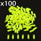 100Pcs Archery Hunting Plastic Arrow ID 6/7/8mm Shaft Tail Replace Nock