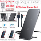 Baseus Qi Wireless Charging Pad Stand Fast Charge For iPhone 8 X Samsung Note 8