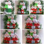 """PERSONALISED XMAS TREE DECORATIONS """"SHOVEL FAMILY"""" FROM 2-8 NAMES + GIFT BAG"""