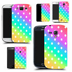 hard durable case cover for most mobile phones - rainbow polka