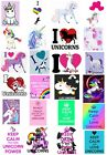 24 Mixed Unicorn Large Sticky White Paper Stickers Labels NEW