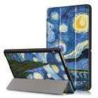 Pattern Magnetic Trifold Leather Flip Folio Case Stand Cover For Huawei MediaPad