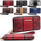 Snake Print Single Zip Up Women Purse Wristlet Ladies Girl Coin Notes Wallet Bag