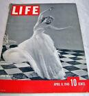 Life Magazine Back Issue 1940 Anna Neagle Hitler WWII Colorful Ads Art