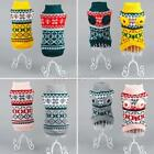 Puppy Dog Sweater Knit Clothes Snowflower Pets Cats Coat Apparel Jumper Knitwear